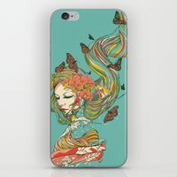 geisha iPhone & iPod Skins featuring Geisha by Huebucket