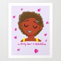 kinky hair is beautiful Art Print
