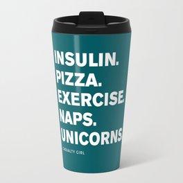 Insulin Pizza Naps (Shaded Spruce) Travel Mug