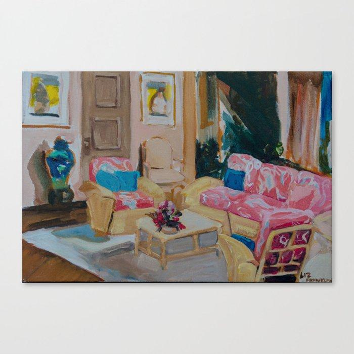 Golden Girls living room Leinwanddruck
