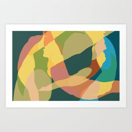 Diver v3 Art Print