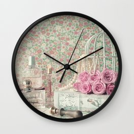 Perfumed Letters Wall Clock