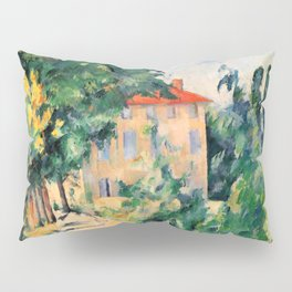 "Paul Cezanne ""House with red roof"", 1890 Pillow Sham"