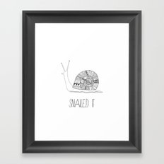 snailed it Framed Art Print