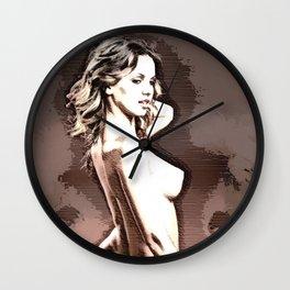 Ellie Hatch R Color Sketch Wall Clock