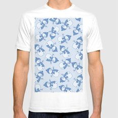 C1.3 snowman pattern Mens Fitted Tee MEDIUM White