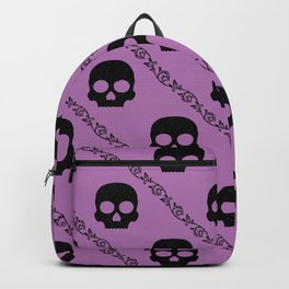 Skulls & Flowers - Lavender V2 Backpack