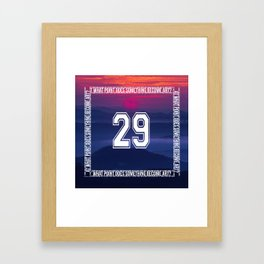 At What Point Does Something Become Art? Jersey Framed Art Print
