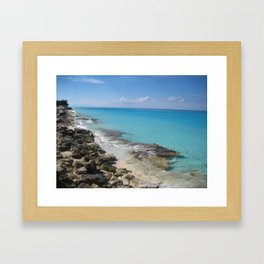 Bimini Beach Framed Art Print
