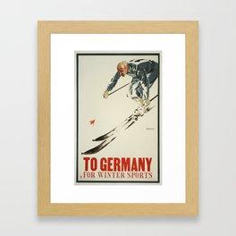 Germany for Winter Framed Art Print
