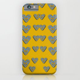 butterfly cartoons in hearts iPhone Case
