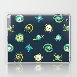 Pastel space pattern - dark Laptop & iPad Skin