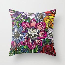 """""""Skull Garden III"""" by Schmiedlin 2013 Throw Pillow"""