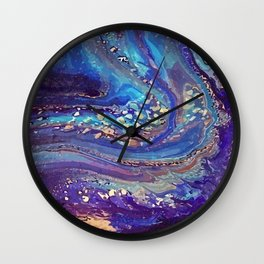 Iridescent Fantasy Abstract Wall Clock