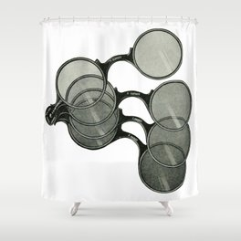 Glasses 2 Shower Curtain