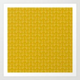Dachshunds in honey yellow Art Print