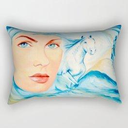 Dream of Blue Rectangular Pillow