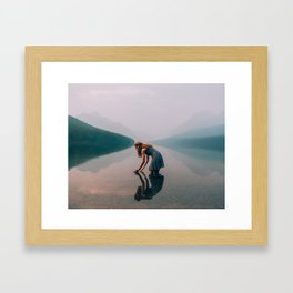 The Looking Glass // Bowman Lake Framed Art Print