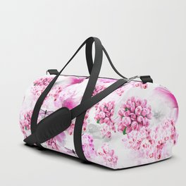 ORCHIDS ROSES AND MAGNOLIAS PINK Duffle Bag