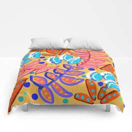 Whimsical Leaves Pattern Comforters