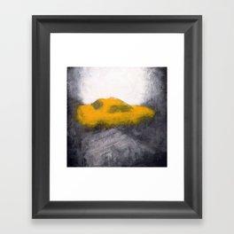TAXI seen through a foggy window Framed Art Print