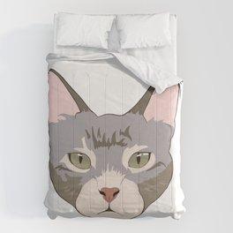 Green eyed kitty Comforters