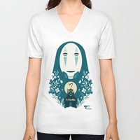 spirited away V-neck T-shirts featuring spirited away by StraySheep