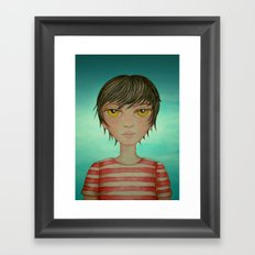 A boy Framed Art Print