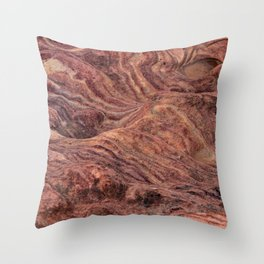 Natural Sandstone Art, Valley of Fire - V Throw Pillow