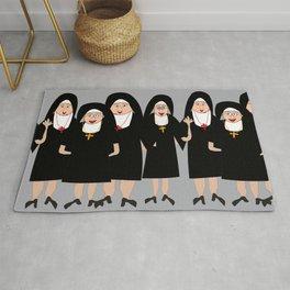 Nuns Wearing Habits Rug