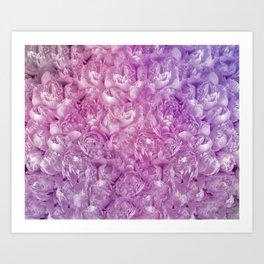 Purple and Pink Peonies Art Print