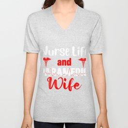 Nurse Life And Paramedic Wife Paramedic Nurse EMT EMS Gift Unisex V-Neck