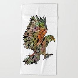 Kea New Zealand Bird Beach Towel