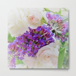 summer lilac and roses Metal Print