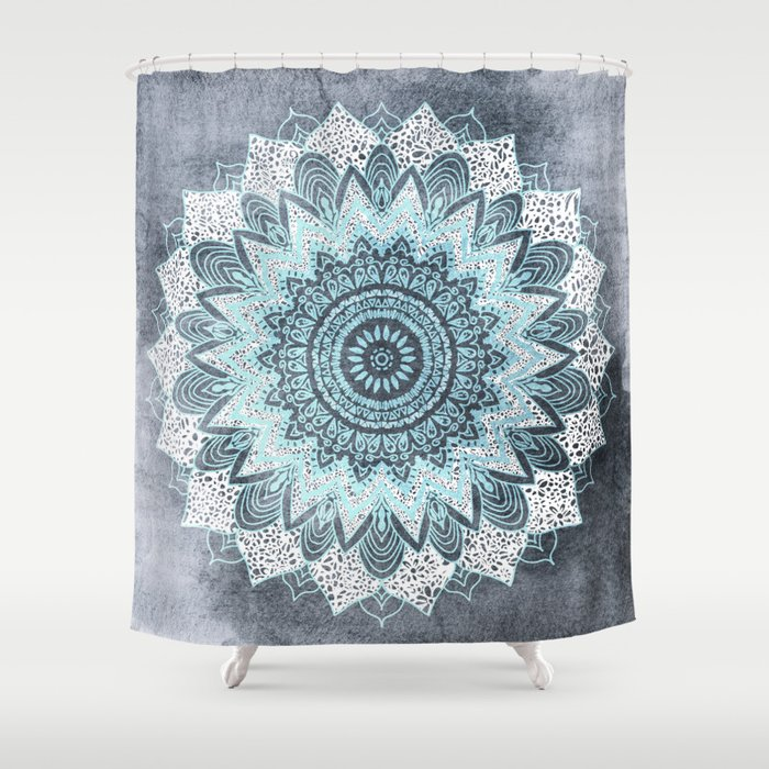 BOHOCHIC MANDALA IN BLUE Shower Curtain