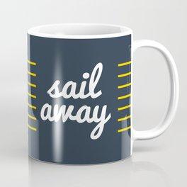 Sail Away Nautical Print Coffee Mug