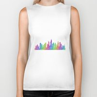 chicago Biker Tanks featuring Chicago by David Zydd