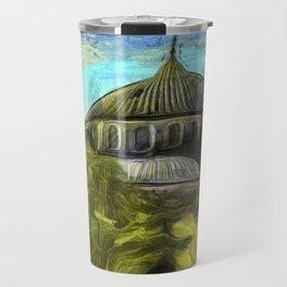 Blue Mosque Istanbul Art Travel Mug