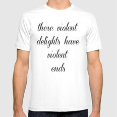 Violent ends Mens Fitted Tee MEDIUM White