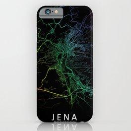 Jena, Germany, City, Map, Rainbow, Map, Art, Print iPhone Case