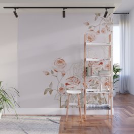 FRENCH PALE ROSES Wall Mural