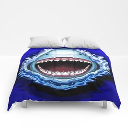 Shark Jaws Attack Comforters