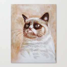 Grumpycat Canvas Print