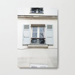Light Blue Window, Paris Metal Print