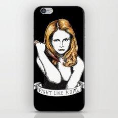 Fight like a girl iPhone & iPod Skin