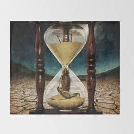 Sands of Time ... Memento Mori Throw Blanket