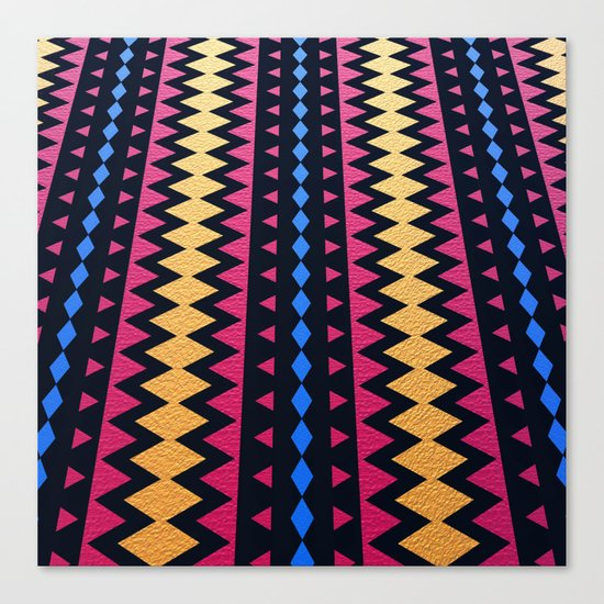 Aztec Pattern with Textured Appearance Canvas Print