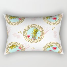 Aztec Fruit Pattern Rectangular Pillow