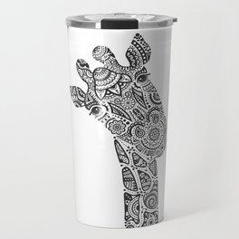 Giraffe in Monochrome Travel Mug