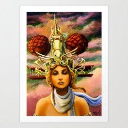 Unicorn Travel Headgear Art Print